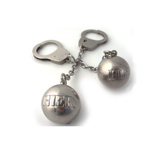 Photo of His & Hers Ball & Chain Keyring Gift Set Gadget