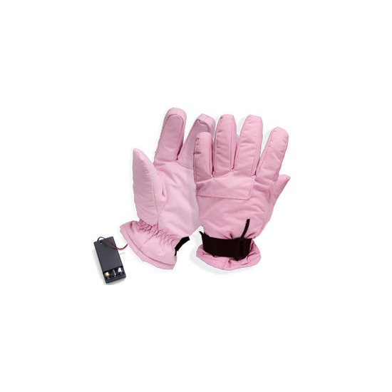 Battery Powered Heated Gloves - Pink