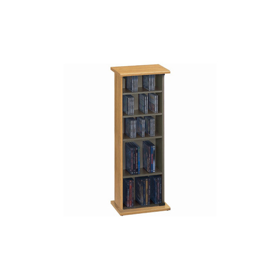 Jahnke CS20-OAK CD & DVD Storage