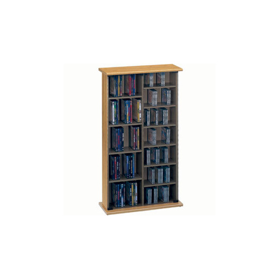 Jahnke CS40-OAK CD & DVD Storage