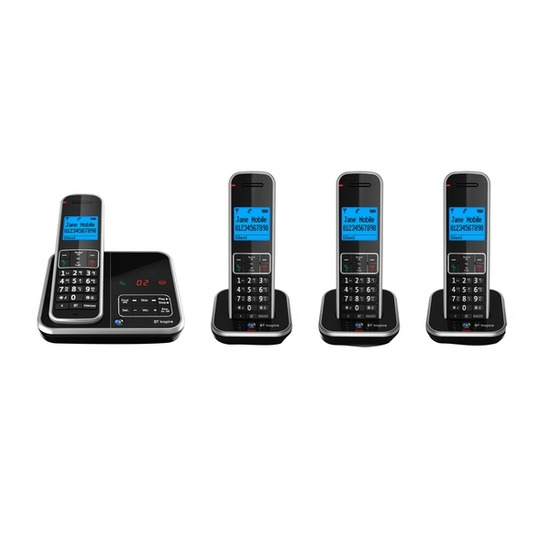 BT Inspire 1500 Digital Cordless Phone with Answering Machine - Quad Pack