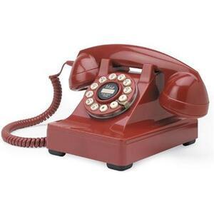 Photo of Wild and Wolf Classic Retro 302 Red Phone Landline Phone