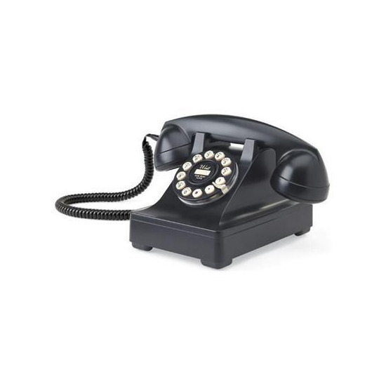 Wild and Wolf Classic Retro 302 Black Phone