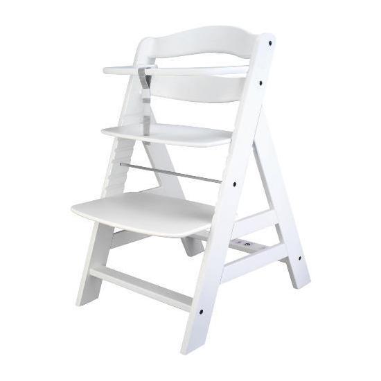 Alpha White Wooden Highchair