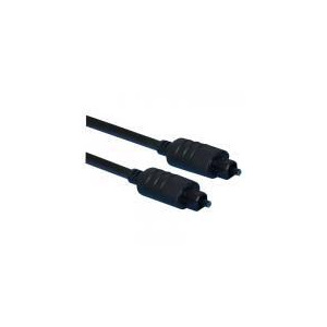 Photo of Black Premium Toslink Plug To Toslink Plug. Blister 1M Adaptors and Cable