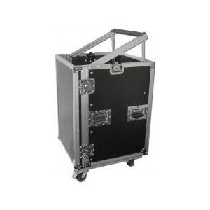 Photo of DJKITKASE 16U Slant Top Rack Case With Wheels Turntables and Mixing Deck