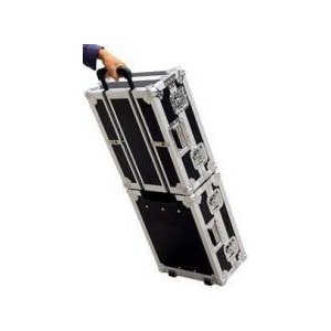 Photo of Road Ready Stackable CD Case Combo RRCDJHWS Turntables and Mixing Deck