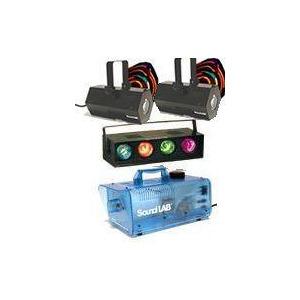 Photo of 2 X Soundlab Vasto, 4 Way Light and Smoke Machine Lighting