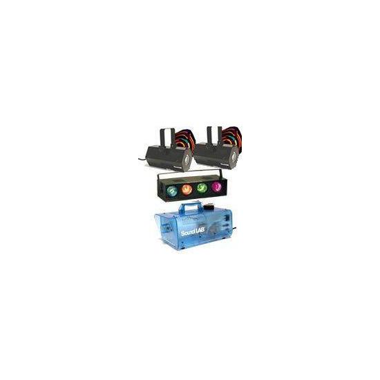 2 x Soundlab Vasto, 4 Way Light and Smoke Machine