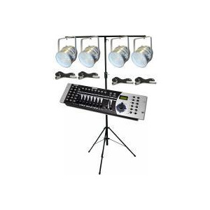 Photo of LED PAR56 DMX Lighting Kit (Silver) Lighting