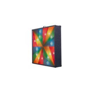 Photo of Multi Rainbow Cross Carpet Covered Light Screen With 4 Channels and Carry Handle Lighting