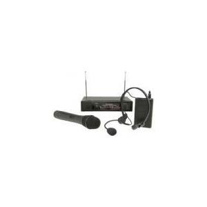 Photo of Skytec 2 Channel VHF 173.8MHZ Handheld+174.6MHZ Headband System Microphone