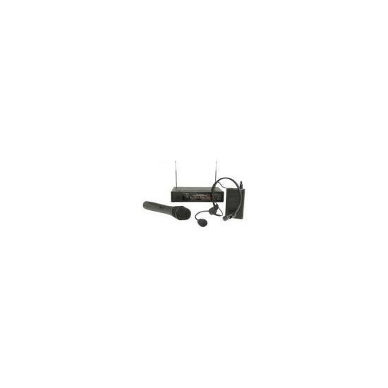 Skytec 2 Channel VHF 175.0MHz Handheld+174.2MHz Headband System