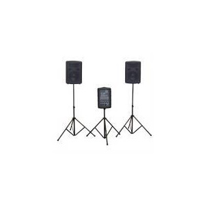Photo of Soundlab 2 X 100W Portable PA System With Carry Case Speaker
