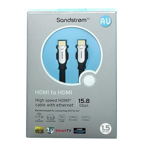 Photo of Sandstorm AV Silver Series HDMI 1.4 Cable With Ethernet - 1.5M Adaptors and Cable