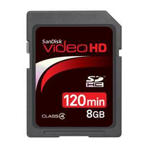 Photo of SanDisk Video HD SDHC 8GB Memory Card