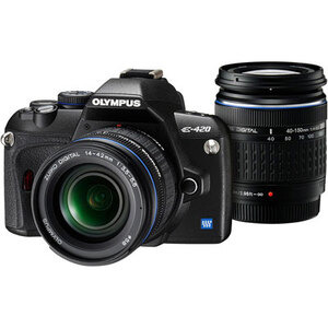 Photo of Olympus E-420 With 14-42MM and 40-150MM Lenses Digital Camera
