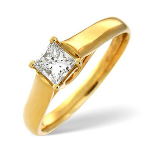 Photo of Star Buy - H/Si Solitaire Ring 0.25CT Diamond 18K YG Jewellery Woman