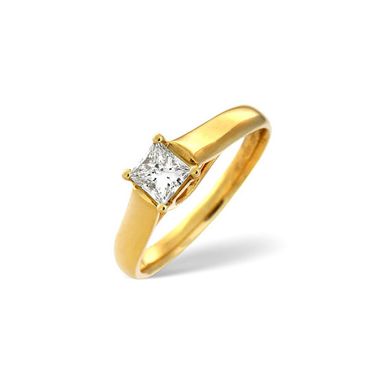 Star Buy - H/Si Solitaire Ring 0.25CT Diamond 18K YG