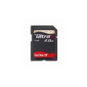 Photo of SANDISK 2GB SD ULTRAII Memory Card