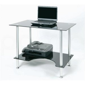 Photo of Jual PC005LTB - Laptop Or Small Computer Desk Black Glass Computer Desk
