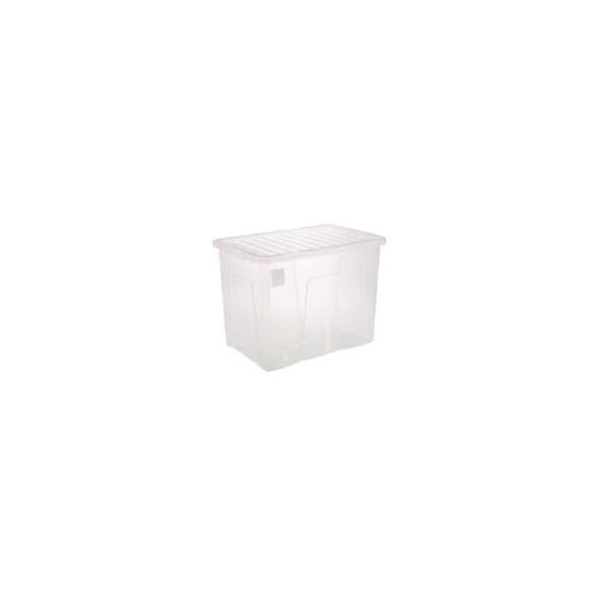 80 Litre Storage Box and Lid - Clear