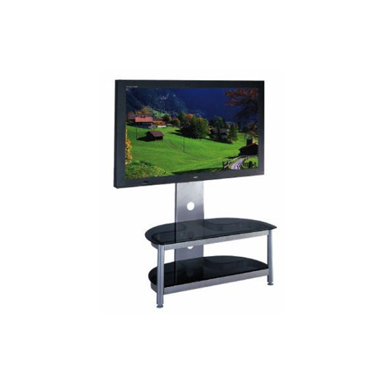 Premiun TV Stand 32 inch - 50 inch with Black Glass Shelves