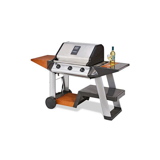 Outback Sapphire 3 Burner Hooded Stainless Steel Gas BBQ