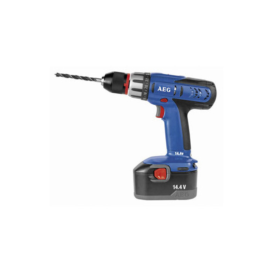 AEG 14.4v Drill Driver with 2 x 1.5ah NiCd Batteries + one free battery
