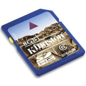 Photo of Kingston 8GB SDHC Class 6 - SD6/8GB Memory Card
