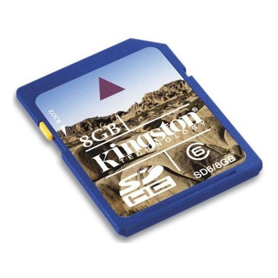 Kingston 8GB SDHC Class 6 - SD6/8GB