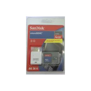 Photo of Sandisk MICROSDHC 4GB With Adapter and Micro Mate Card Reader - SDSDQ-4096 Memory Card