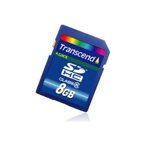 Photo of Transcend 8GB SDHC Memory Card