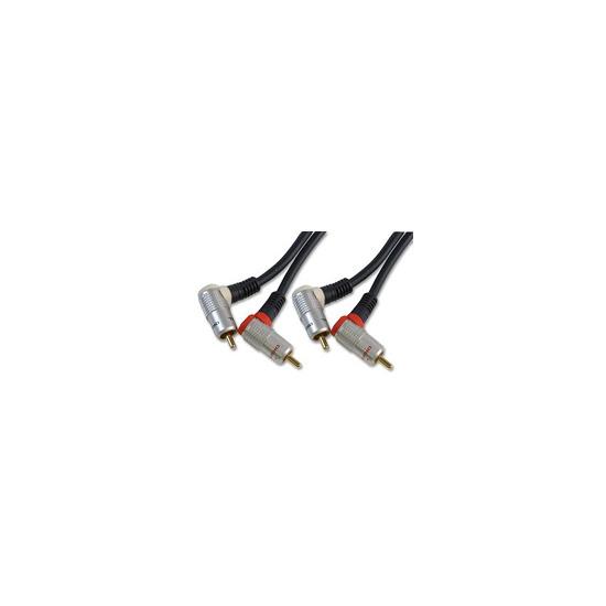 AV4Home AV411475 -  Twin Phono Audio Cable Rt. Angle