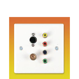 AV4Home AV46728 - Multi-Video Connection plate, S-Video, TV, Component Video, Composite video Reviews