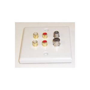 Photo of AV4HOME AV46727 - Satellite + TV Aerial + 4 Phono Connection Plate Cable Tidy