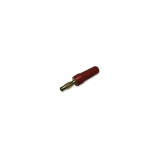 """AV4Home AV15582 - 4MM PLUG, RD/GOLD; Colour:Red; Diameter, cable max:5mm; Plating:GOLD; Size:4mm"""""""