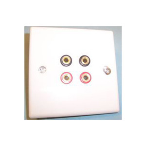 Photo of AV4HOME AP46736 - Speaker Connection Plate X4 Banana Connectors Adaptors and Cable