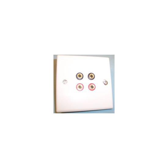 AV4Home AP46736 - Speaker connection plate x4 banana connectors