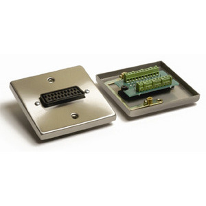 Photo of AV4HOME WP-7100 Satin Chrome Scart Wall Plate Cable Tidy