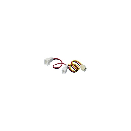 Akasa - Fan power adapter - 3 PIN internal power (F) - 3 PIN internal power (M)