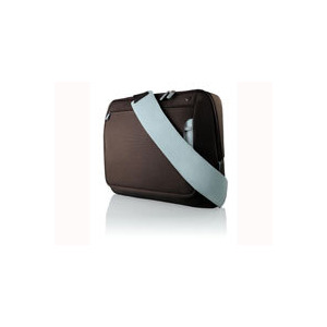 "Photo of Belkin Messenger Bag For Notebooks Up To 15.4'"" - Notebook Carrying Case - Chocolate, Tourmaline Laptop Bag"