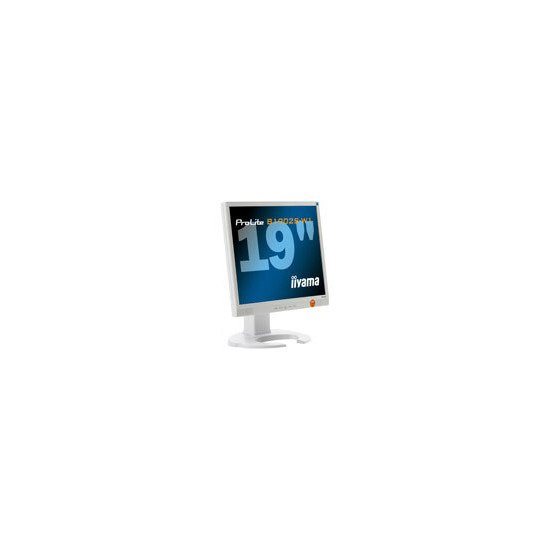 "Iiyama Pro Lite B1902S-W1 - Flat panel display - TFT - 19"" - 1280 x 1024 - 300 cd/m2 - 1000:1 - 2 ms - 0.294 mm - DVI-D, VGA - speakers - white"