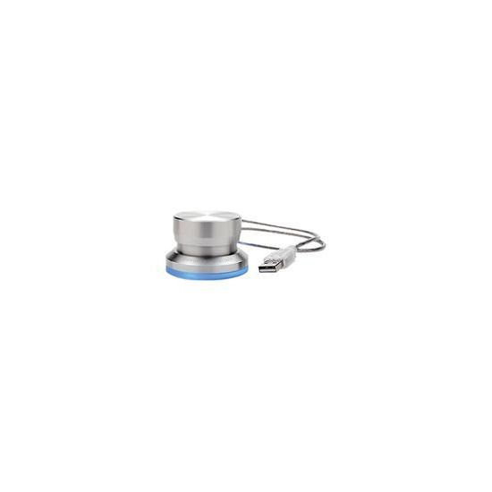 Griffin PowerMate - Shuttle wheel - wired - USB - silver