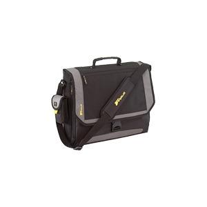 Photo of Targus XL City.Gear Messenger Notebook Case - Notebook Carrying Case - Black, Silver Laptop Bag