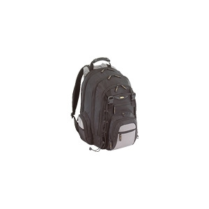 Photo of Targus City.Gear Notebook Backpac - Notebook Carrying Backpack - Black, Silver Laptop Bag