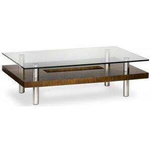 Photo of BDI Chocolate Walnut and Glass Long Coffee Table Furniture