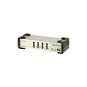 Photo of ATEN CS1734B - KVM / Audio / USB Switch - 4 Ports Adaptors and Cable