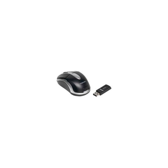 Toshiba - Mouse - optical - wireless - RF - silver