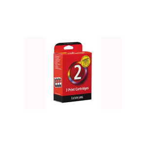 Photo of Lexmark New Triple Pack No.2 Colour INKJET Cartridge Ink Cartridge